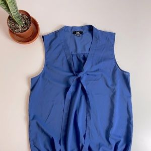 Chic By Jacob Blue Sleeveless Blouse